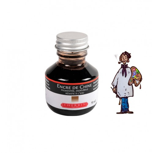 J Herbin Tinta China 50ml - MARRON