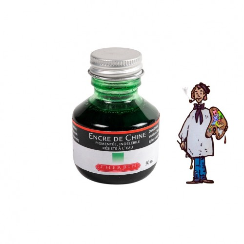 J Herbin Tinta China 50ml - VERDE