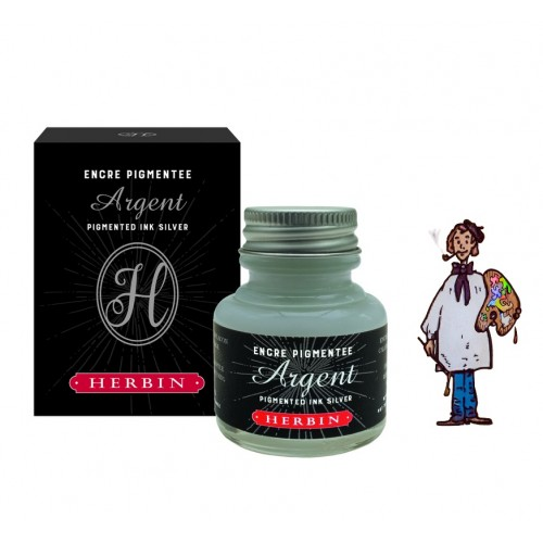 J Herbin Tinta Decorativa 30ml - PLATA