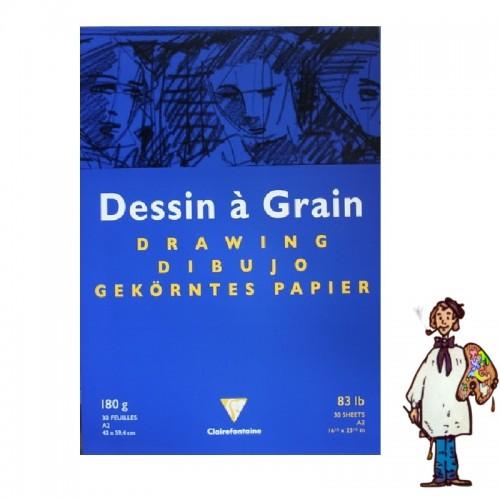 DESSIN À GRAIN - A2 42x59,4 180g 30h. CLAIRFONTAINE