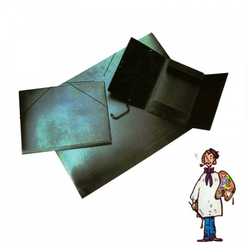 Carpeta cartón compacto negro con asa 51x72cm