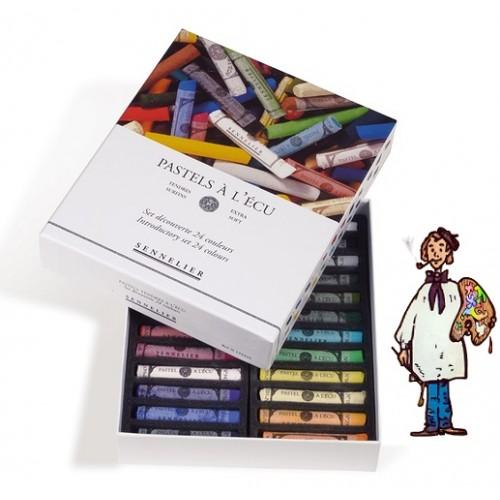 Caja cartón pastel À L'ecu Sennelier 24 pasteles introducción