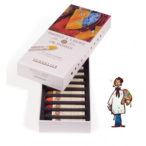Caja cartón de 12 pasteles al óleo Sennelier
