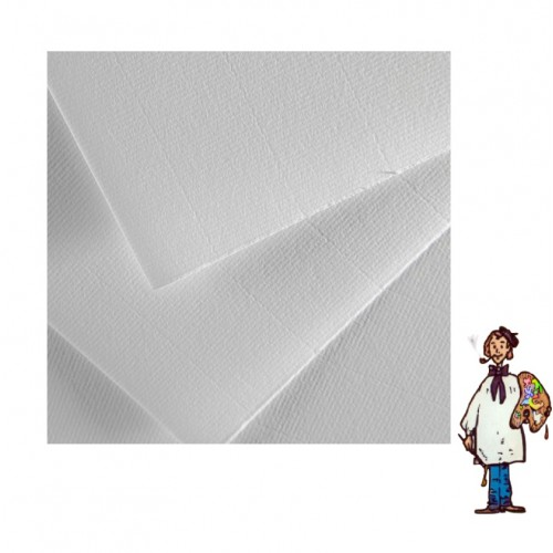 Papel Ingres Guarro, 108 gr, 50x70 cm. Blanco-5 hojas
