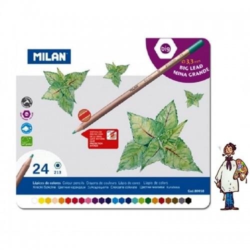 Caja metálica 24 lápices color MILAN