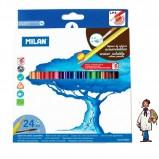 Caja cartón 24 lápices acuarelables MILAN