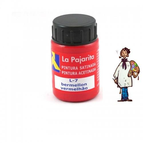 Pintura látex satinada La Pajarita 35ml - Bermellón L7