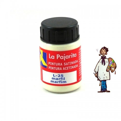Pintura látex satinada La Pajarita 35ml - Marfil L25