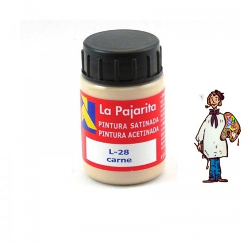 Pintura látex satinada La Pajarita 35ml - Carne L28