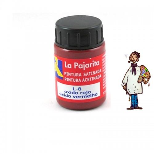 Pintura látex satinada La Pajarita 35ml - Oxido rojo L8