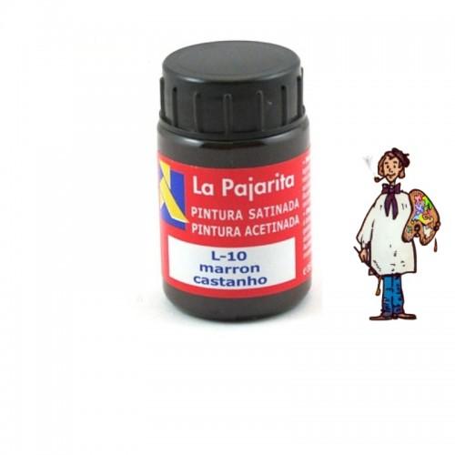 Pintura látex satinada La Pajarita 35ml - Marron L10
