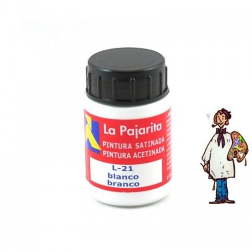 Pintura látex satinada La Pajarita 35ml - Blanco L21