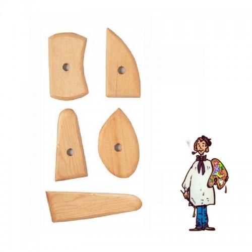Set 5 medias lunas de madera