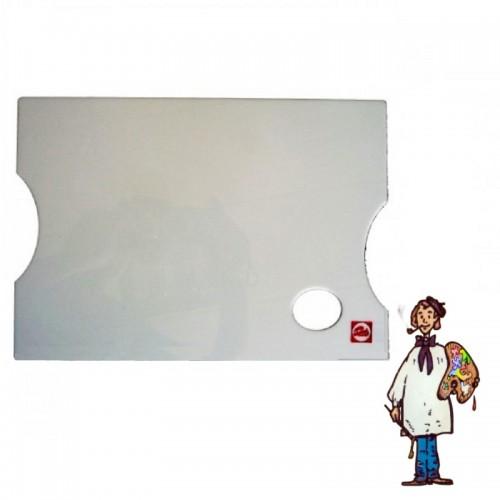 Paleta metacrilato rectangular 25x35cm