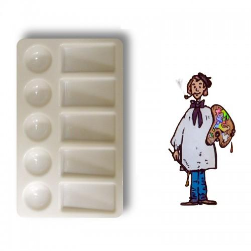 Paleta de plástico para gouache