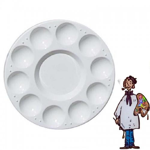 Paleta plástico circular 17cm
