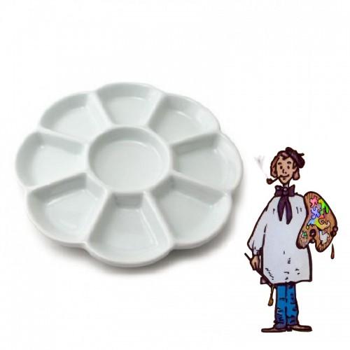 PALETA REDONDA DE PORCELANA diámetro 19 cm
