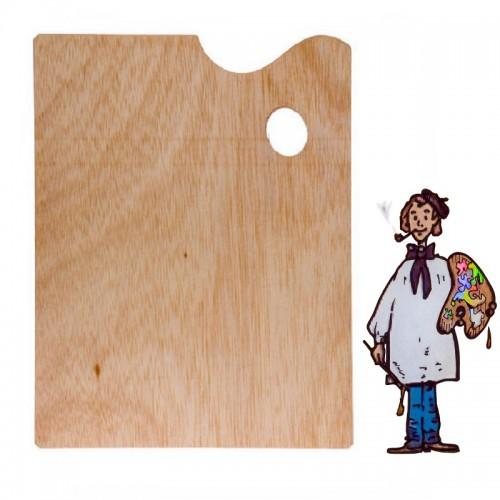 Paleta de madera rectangular 25x30c