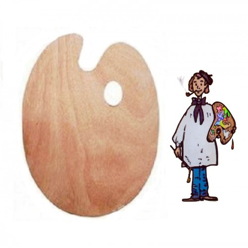 Paleta de madera ovalada 30x40cm