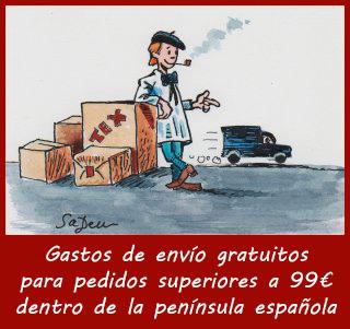 Gastos de envío gratuitos para pedidos superiores a 99€ dentro de la península española
